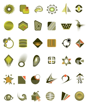 antipollution: set of 36 icons and design-elements