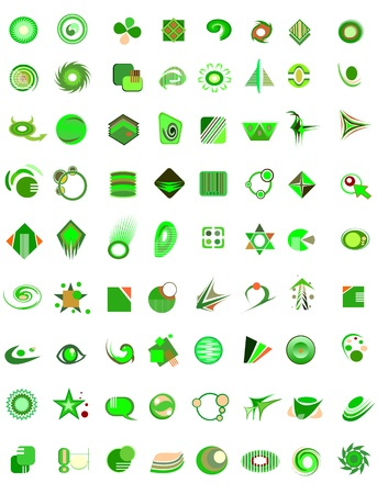 antipollution: set of 72 icons and design-elements