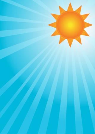 Sun on a blue sky Stock Vector - 8973646