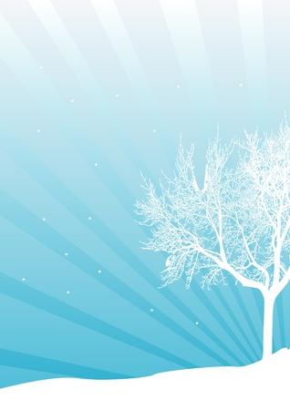 Winter background. Vector