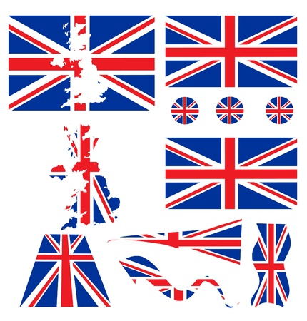 flag pole: uk flag