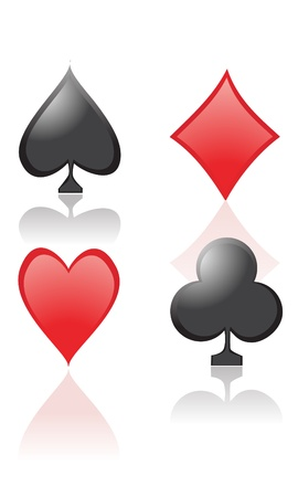 playing card symbols: S�mbolos de cartas