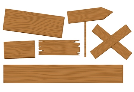 plywood: wooden background vector   Illustration