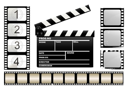 Movie claper Vector