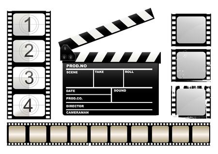board of director: Movie claper Illustration