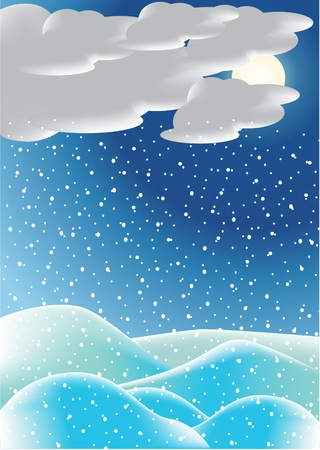 Winter night background Stock Vector - 8973948