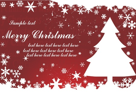 Christmas background with tree Stock Vector - 8974108