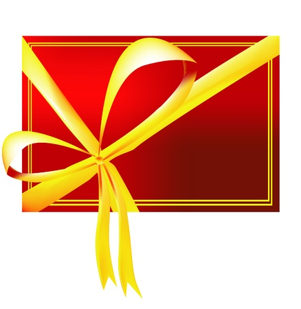 Vector illustration of red gift card Stock Vector - 8973834