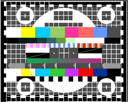 test pattern: Television test screen Illustration
