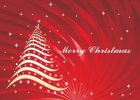 Christmas background with tree Stock Vector - 8973952