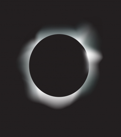 astral: vector illustration of a solar eclipse