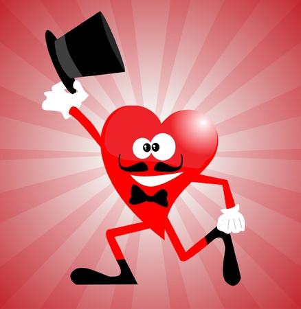 stovepipe: Heart Man with stovepipe hat