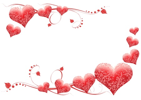 Valentine's day card Stock Vector - 8974112