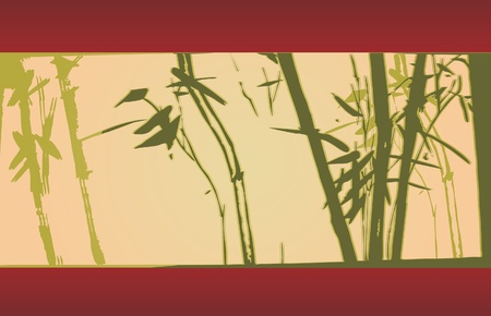 lucky plant: bamboo  Illustration