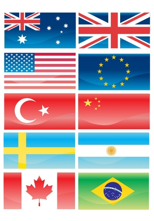 all european flags: Flags of countries Illustration