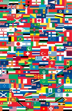 Flags of countries Stock Vector - 8974024