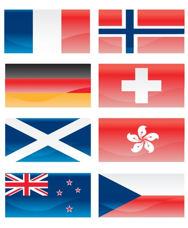 Flags of countries Vector