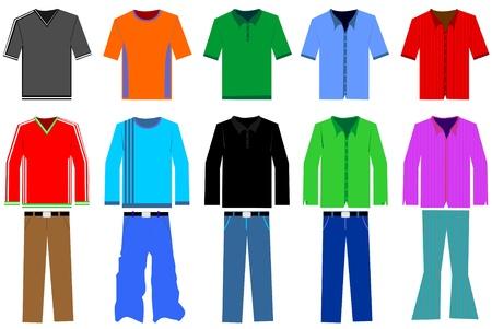 Men's clothes illustration Stock Vector - 8973635
