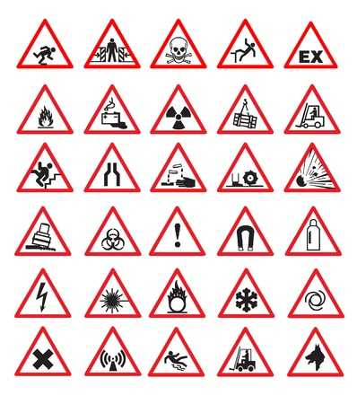 Safety signs Stock Vector - 8971797