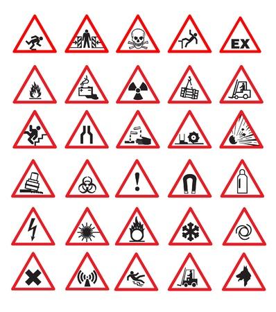 Veiligheidsborden Vector Illustratie