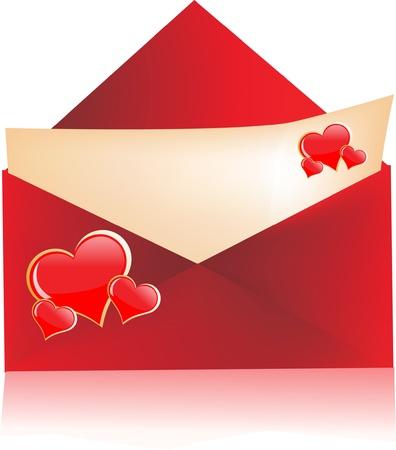 secret love: Carta de amor con sobres