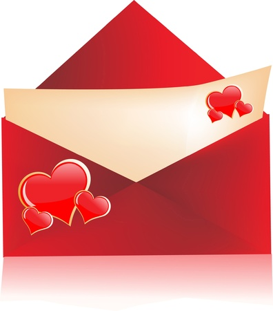 secret love: love letter with envelope