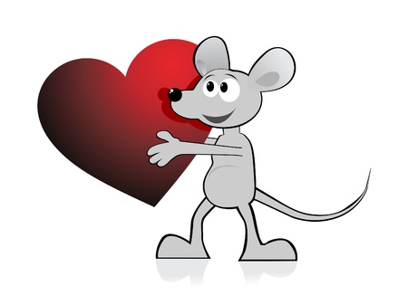 chasing tail: cartoon Mouse