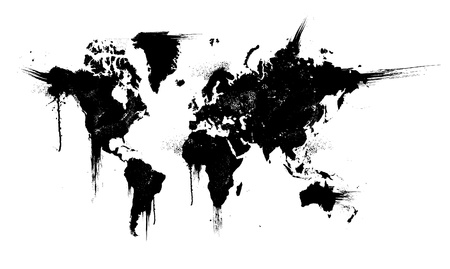 blots: World ink splatter vector illustration Illustration