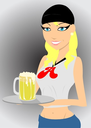 waitress  Vector