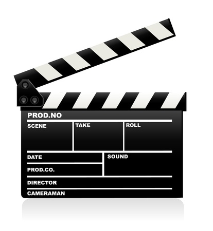 movie clapper: Clapper board Illustration