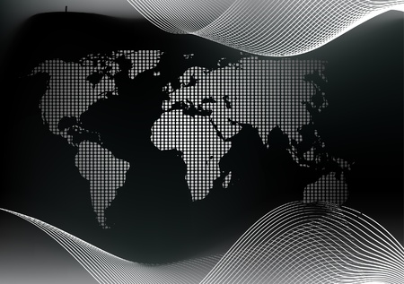 World map Stock Vector - 8973840