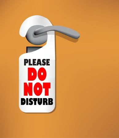 소요: Wood door with a Do not disturb sign