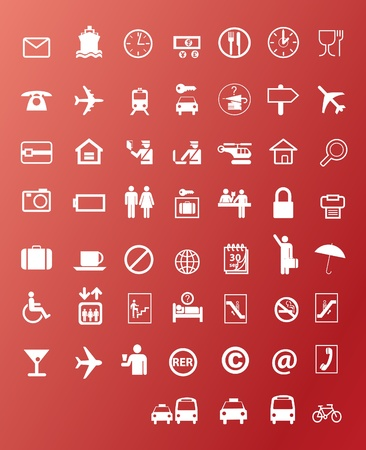 Transport icons Stock Vector - 11327424