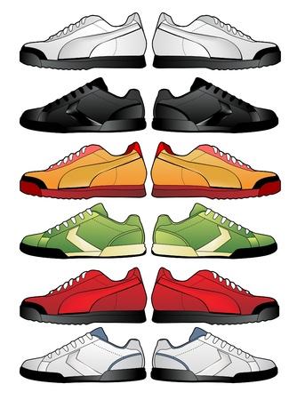 chaussure sport: illustration de chaussures de sport