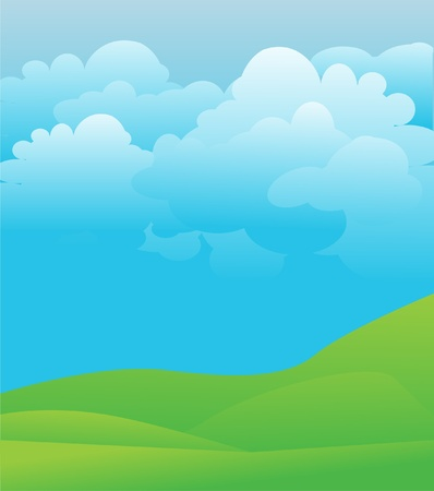 illustration blue sky  Stock Vector - 8971767