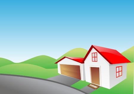proprietor: Vector Illustration of house  Illustration