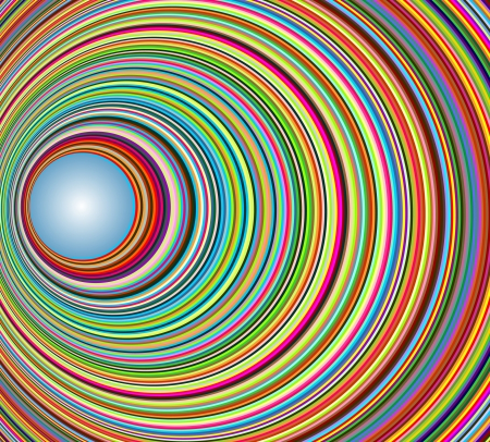 light tunnel: Abstract colorful tunnel with circles