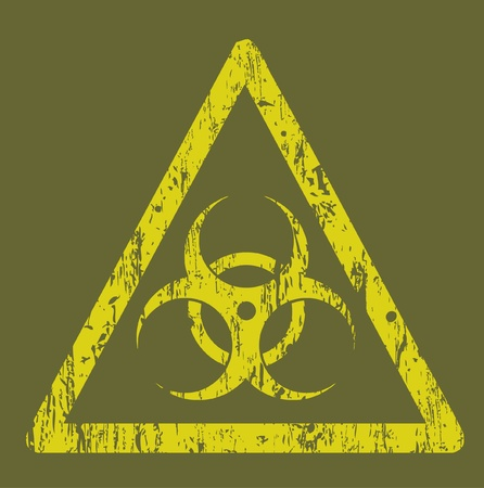 infectious waste: biohazard sign Illustration