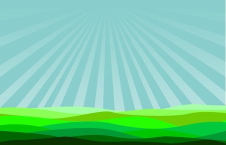 illustration blue sky  Stock Vector - 8973506