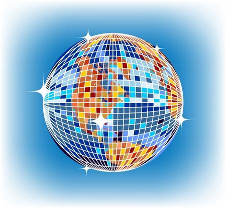 discoball earth Vector