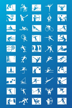 sport icons collection Stock Vector - 8974264