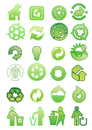 antipollution: set of environmental icons