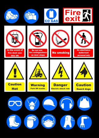 Safety signs Stock Vector - 8973416