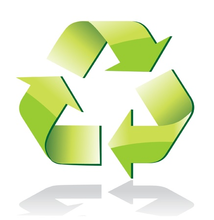 antipollution: Glossy recycle symbol Illustration
