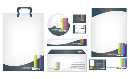 Corporate business template Illustration
