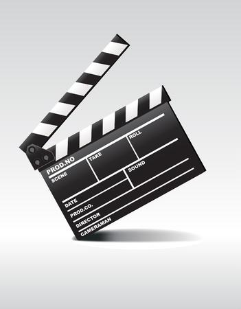 slate film: Clapper board Illustration