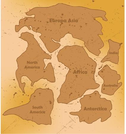 Súper continente Pangea Foto de archivo - 8974395