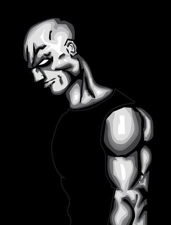 futuristic man: Strong Man