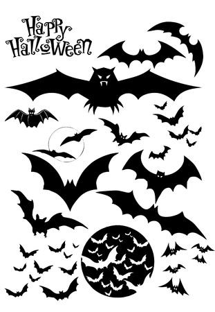 tombes: Silhouettes de Halloween