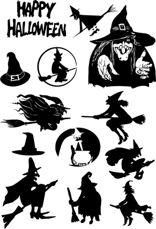 dracula castle: Halloween silhouettes